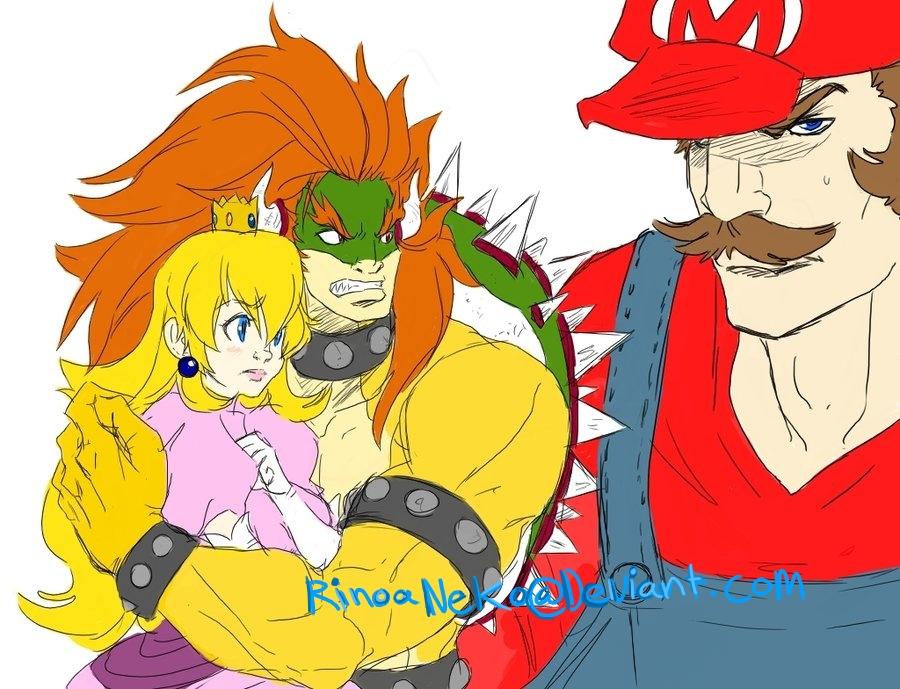 Mario Bros: interuption by rinoaneko