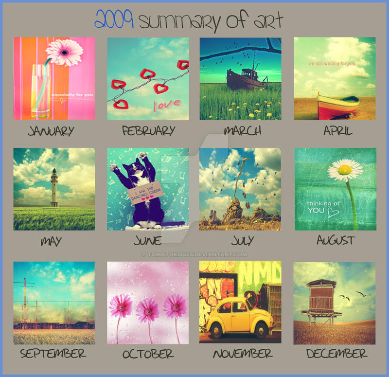 2009 summary of  art by tomatokisses