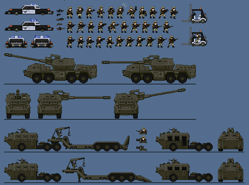 Military Police Sprite Sheet by CommanderEvil