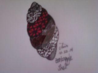 Zentangle Shell by heaven-is-lonely