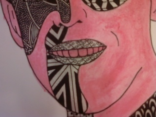 Zentangle Portrait (Close-Up 4) by heaven-is-lonely