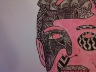 Zentangle Portrait (Close-Up 3) by heaven-is-lonely