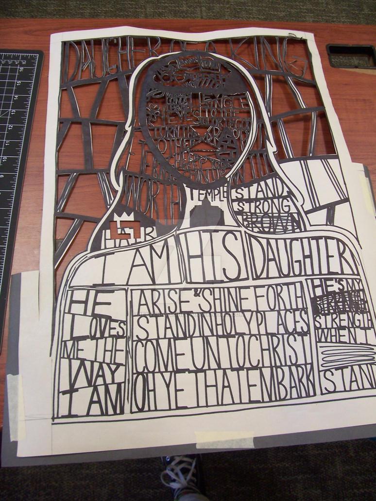 Identity Paper Cut Portrait (WiP) by heaven-is-lonely