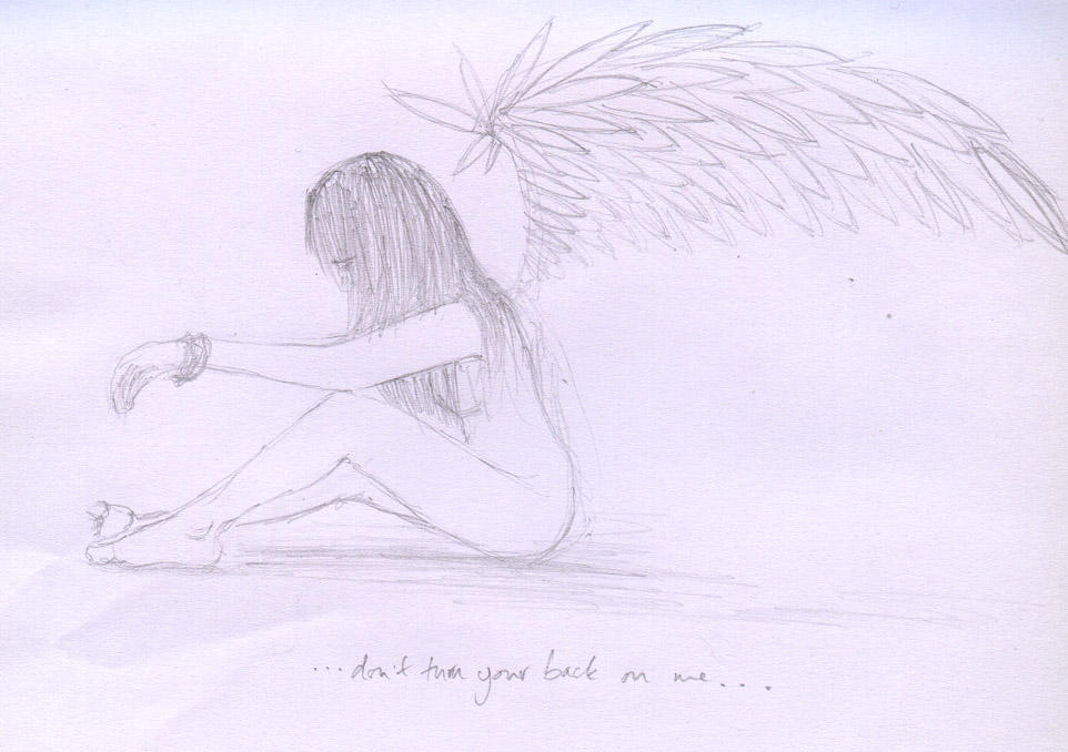 Sad Angel Drawing Sad Angel Girl by Hollyp0p