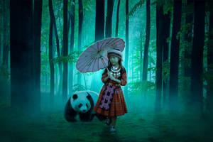 Panda With Girl