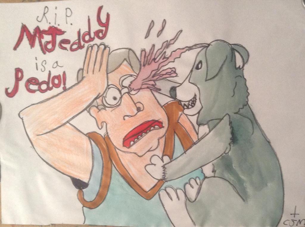 Mr Pickles Stabs Mjeddys Eye by ChrisM199