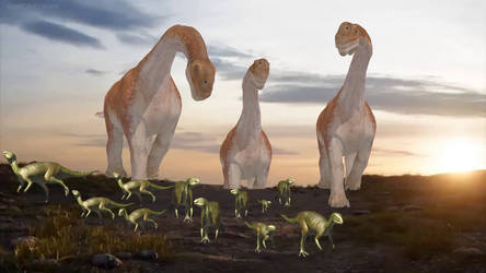 Dinosaur Version of The Circle of Life Scene by ChrisM199