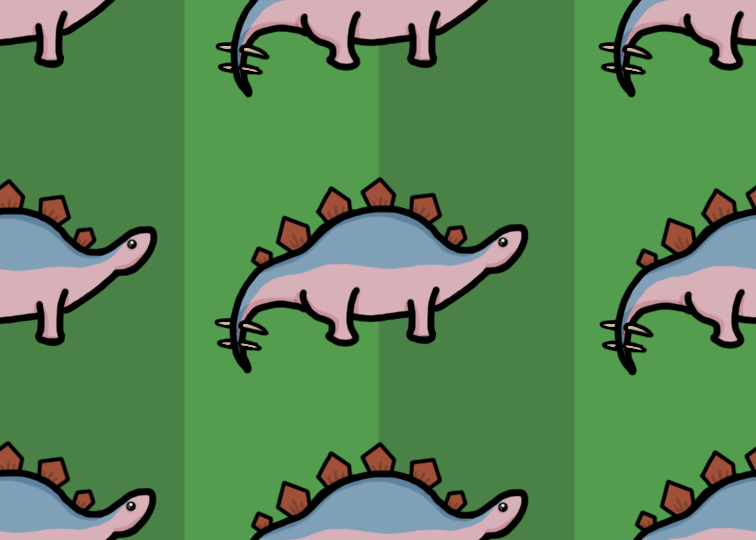 a tileable stegosaurus named caspar by SuperMuts
