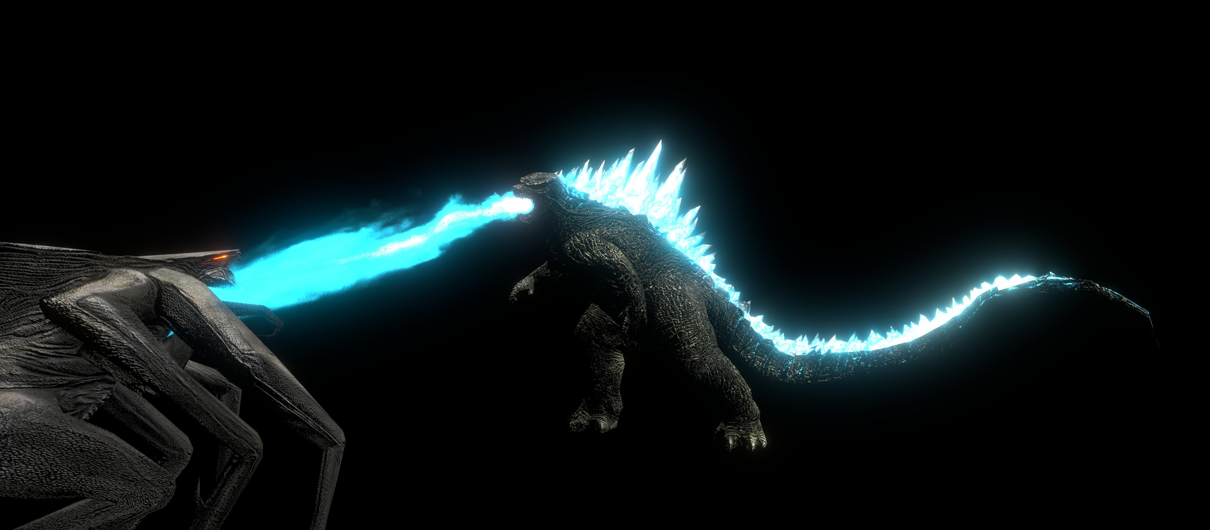 Godzilla 2014 vs Female Muto! by kingkong19100 on DeviantArt