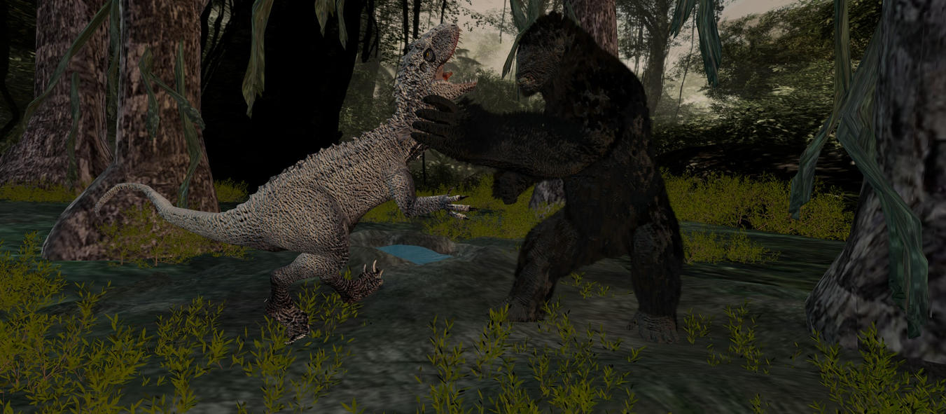King Kong vs Indominous Rex by