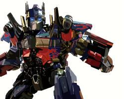 Optimus Prime by kingfret