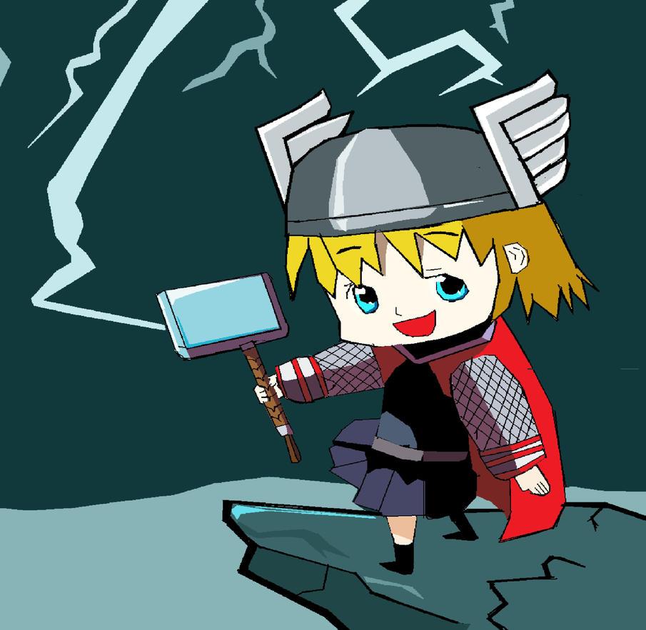 Chibi Girl Thor by kingfret