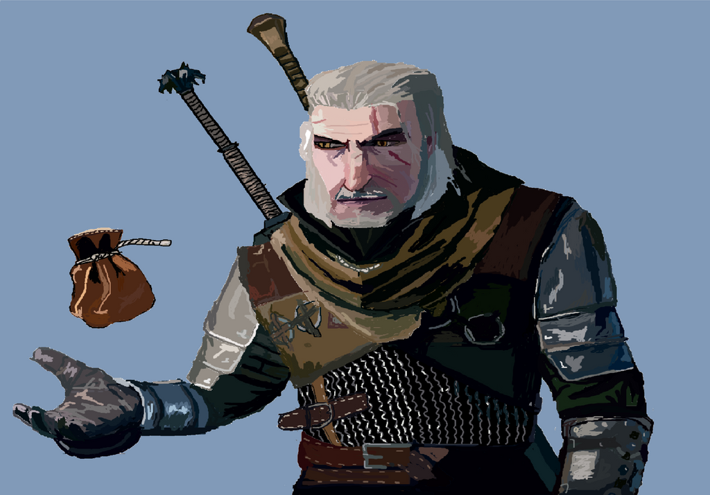 Geralt of Rivia by kingfret