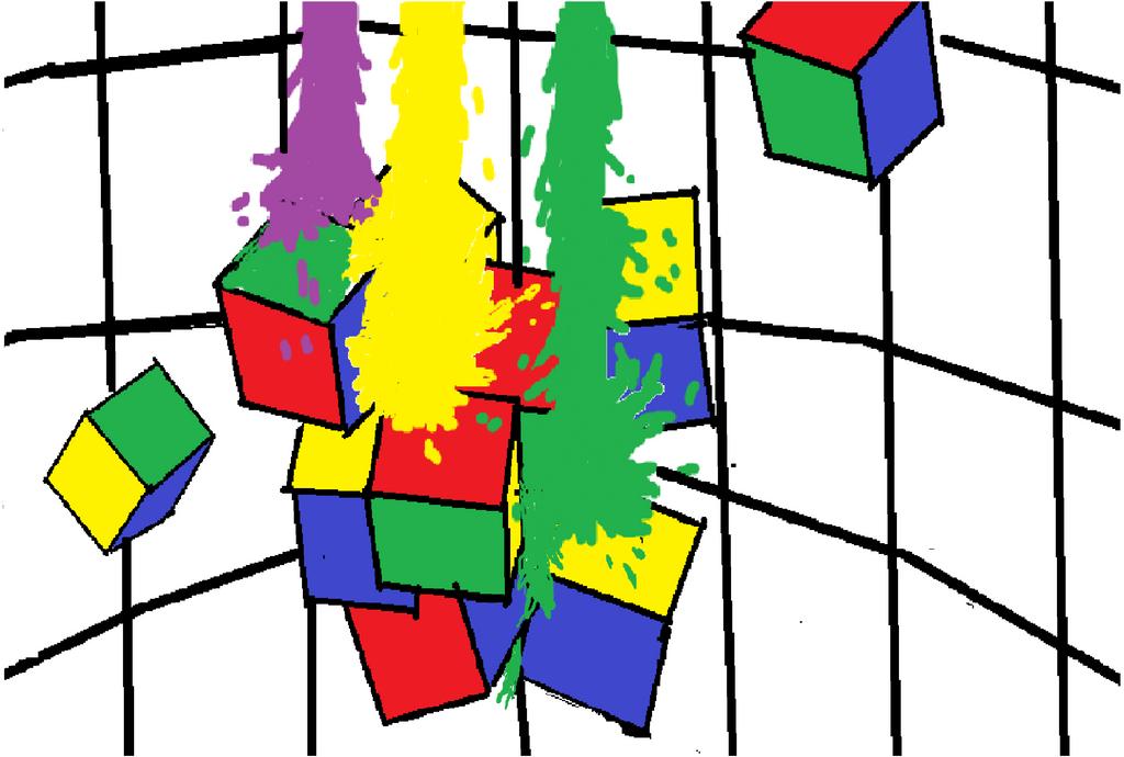 Rubix cube paint attack by kingfret