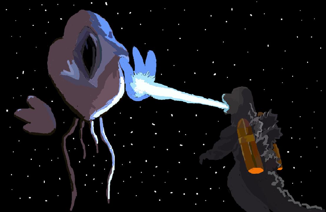Godzilla in space by kingfret