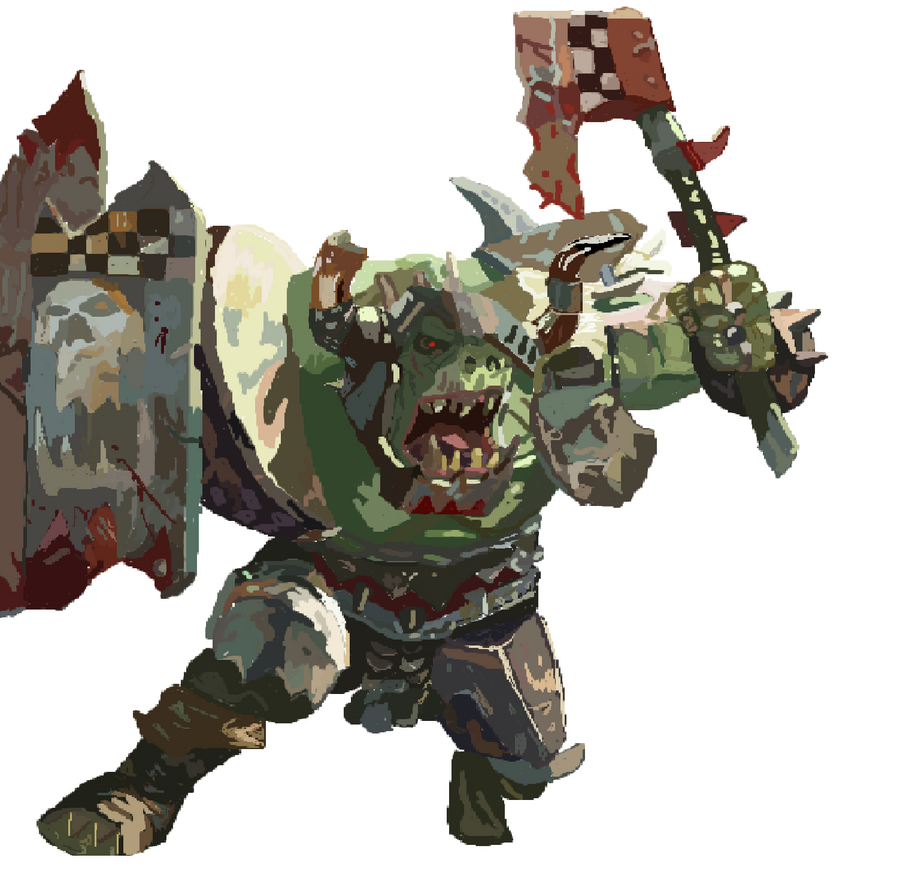 Warhammer orc by kingfret