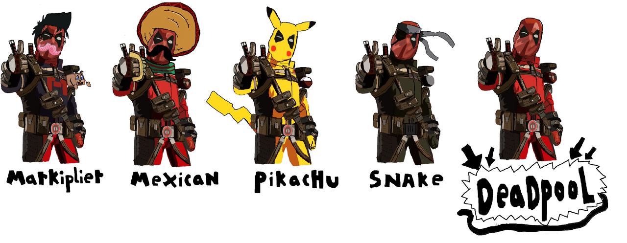 Deadpool deciding which is best to wear by kingfret