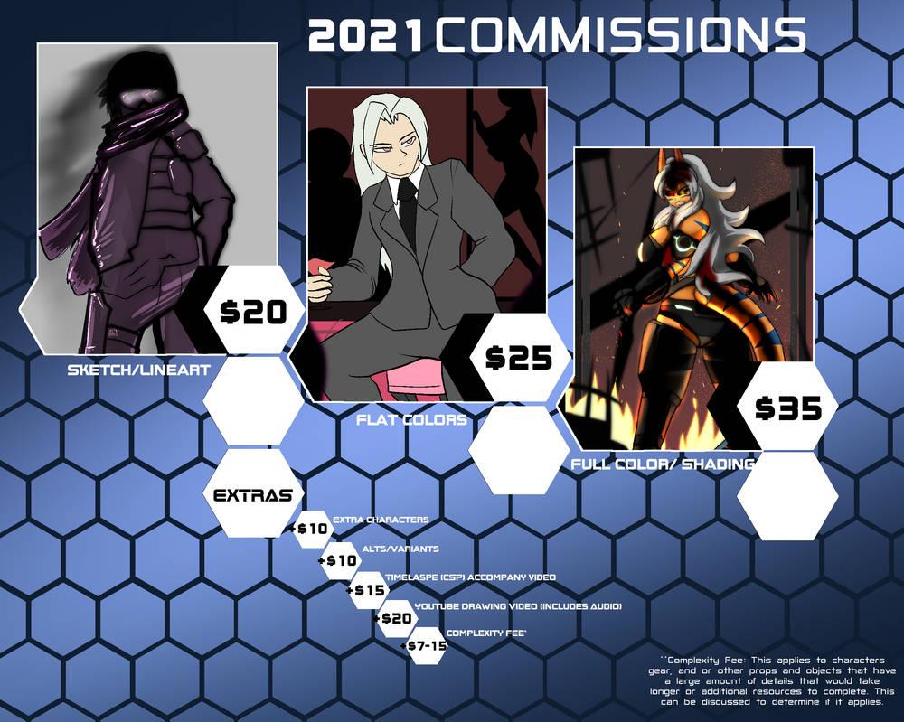 [COMMISSIONS] 2021