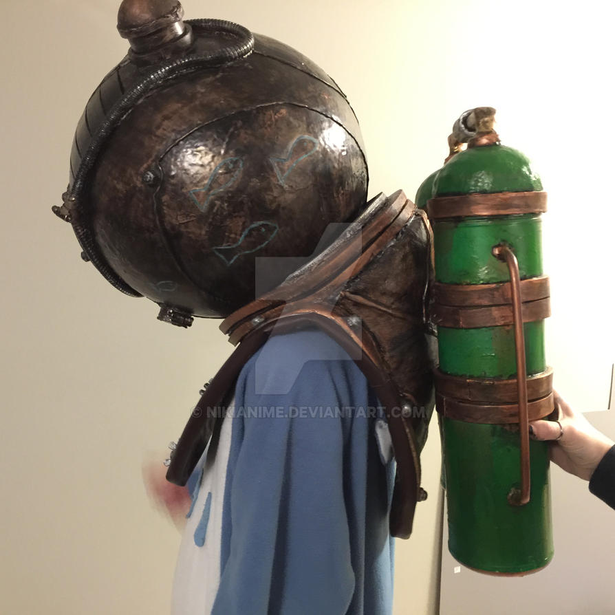 bioshock helmet and tank side view cosplay by nikianime