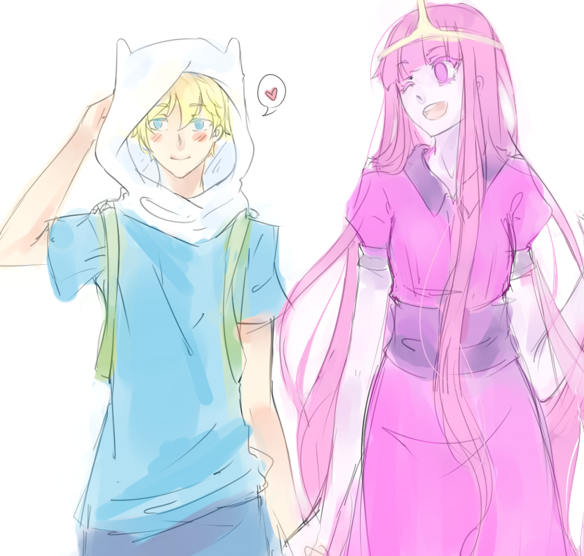 Finn X Princess Bubblegum by Paper-Neko on DeviantArt