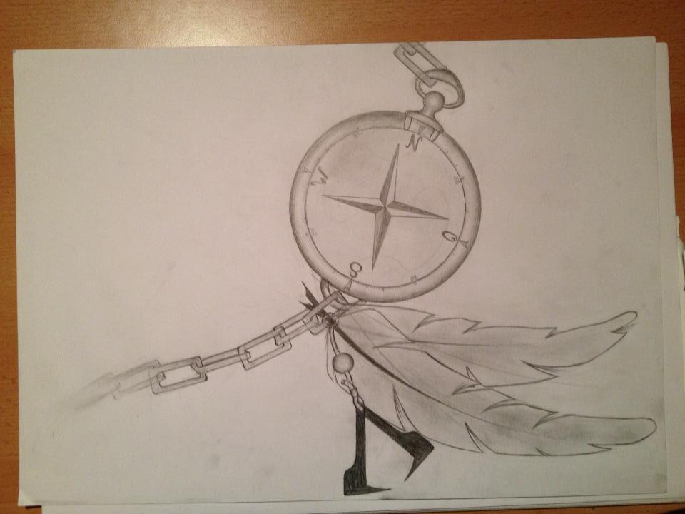 Compass Tattoo Line Drawing : Compass tattoo design by stallnigrafie on deviantart
