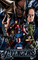 The Avengers - Colored Fan Poster by kelvin8