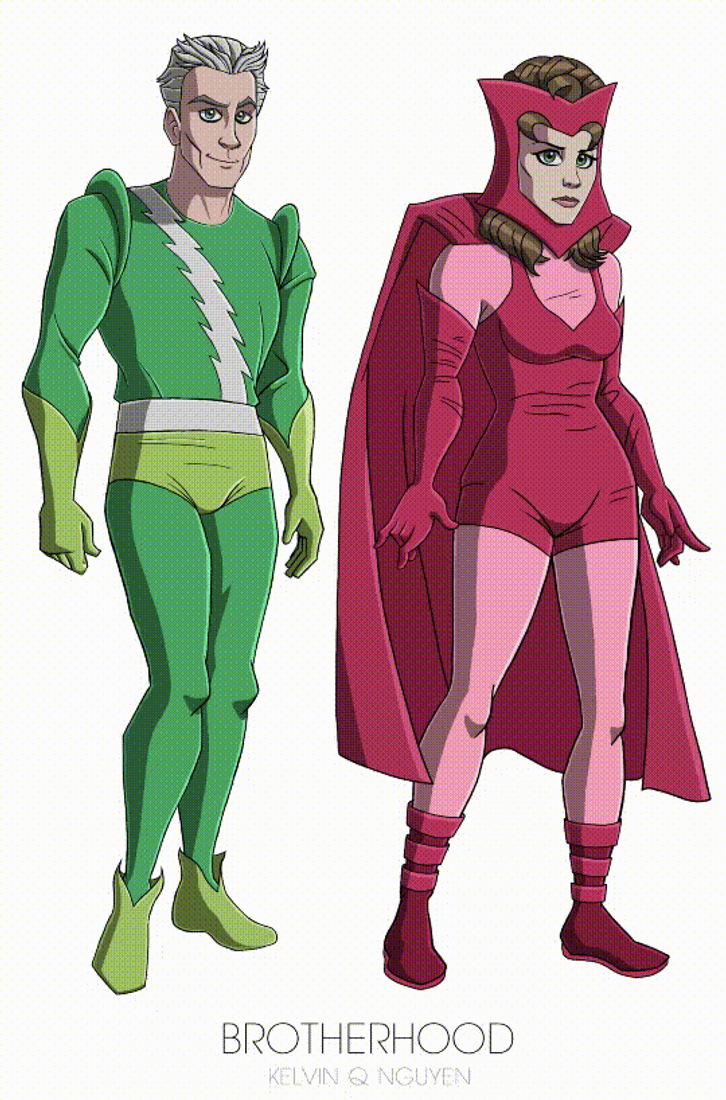 the evolution of quicksilver and the scarlet witch by