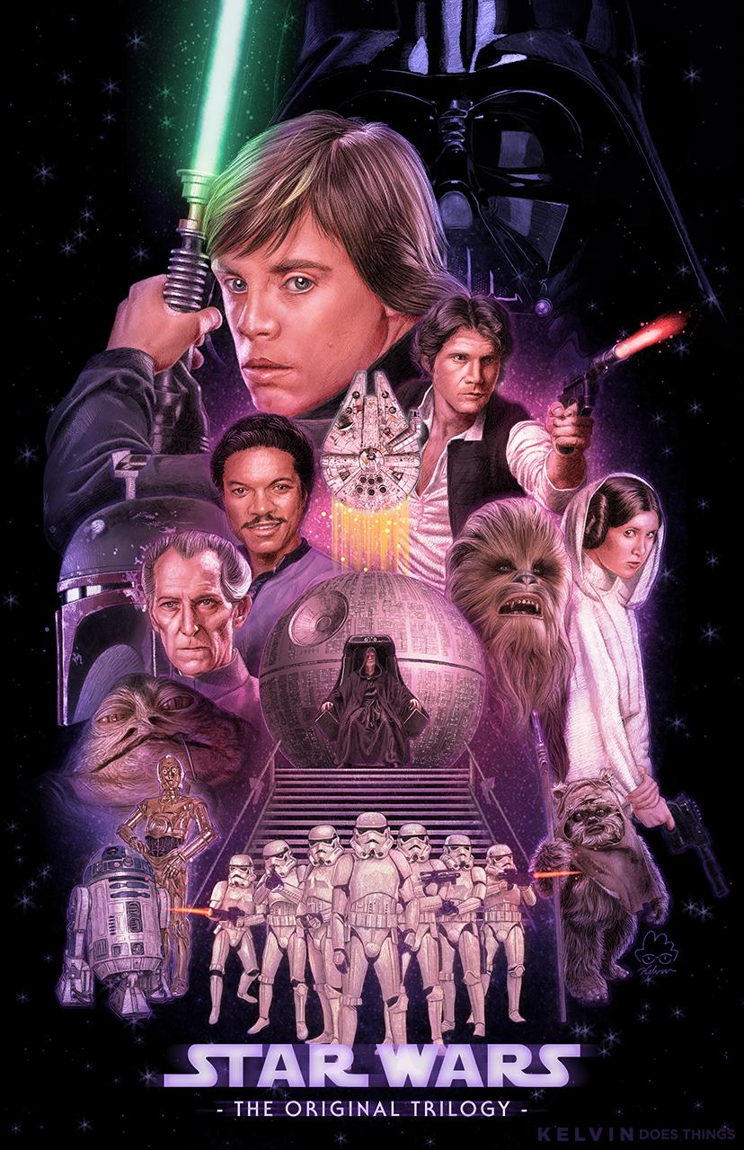 Star Wars The Original Trilogy By Kelvin8 On Deviantart