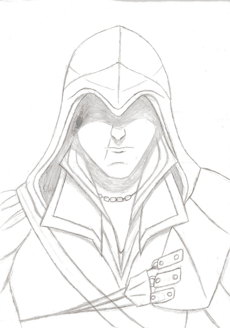 Ezio Sketch by MangakaBen