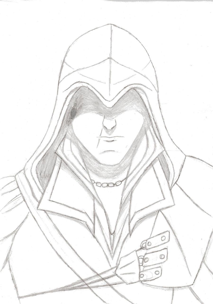 Ezio Sketch by MangakaBen