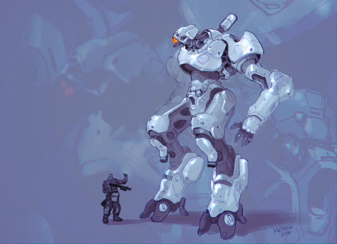 Bot Concept2 by Mattinian