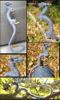 Felted Blue Oriental collage by tallydragon
