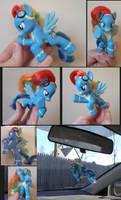 MLP Custom Flying Wonderbolts Rainbow Dash