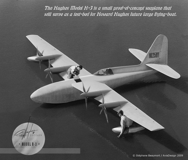 Hughes H-3 flying-boat by Bispro on DeviantArt