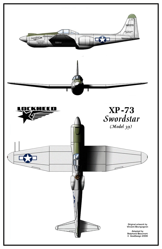 Lockheed XP-73 Swordstar plans by Bispro