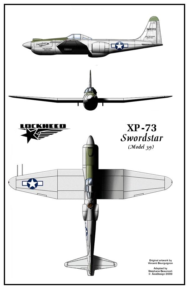 Lockheed XP-73 Swordstar plans by Bispro