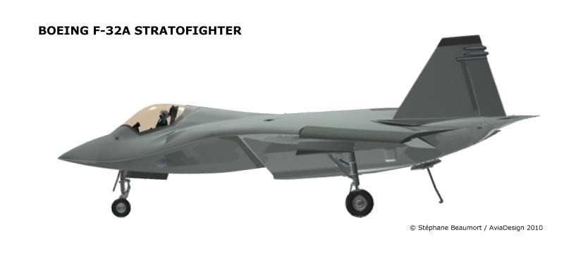 Boeing F-32A profile by Bispro