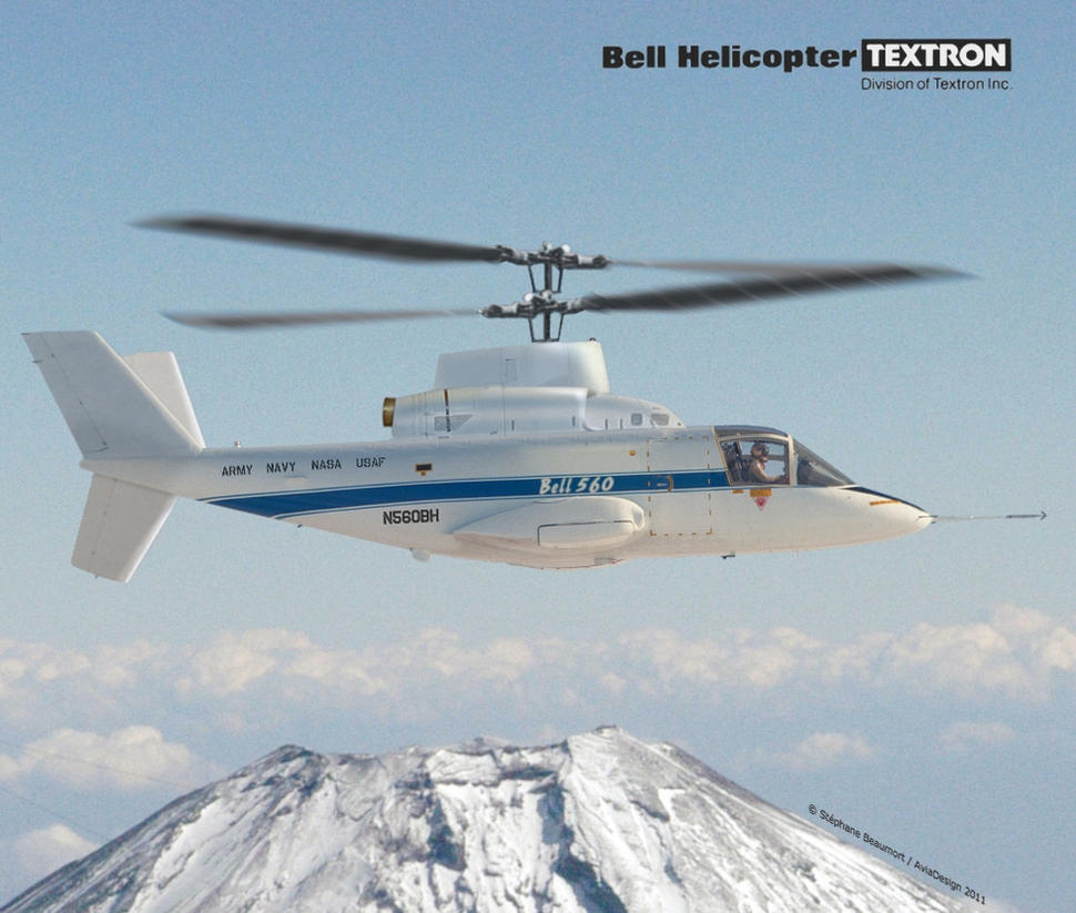 Bell Model 560 coaxial rotors by Bispro