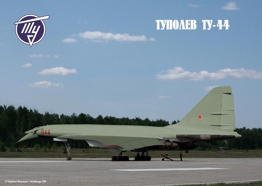 Tupolev Tu-44 Backbone bomber by Bispro