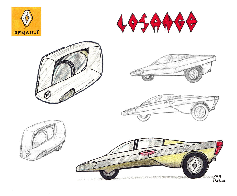 Renault Losange Concept Car By Bispro On Deviantart
