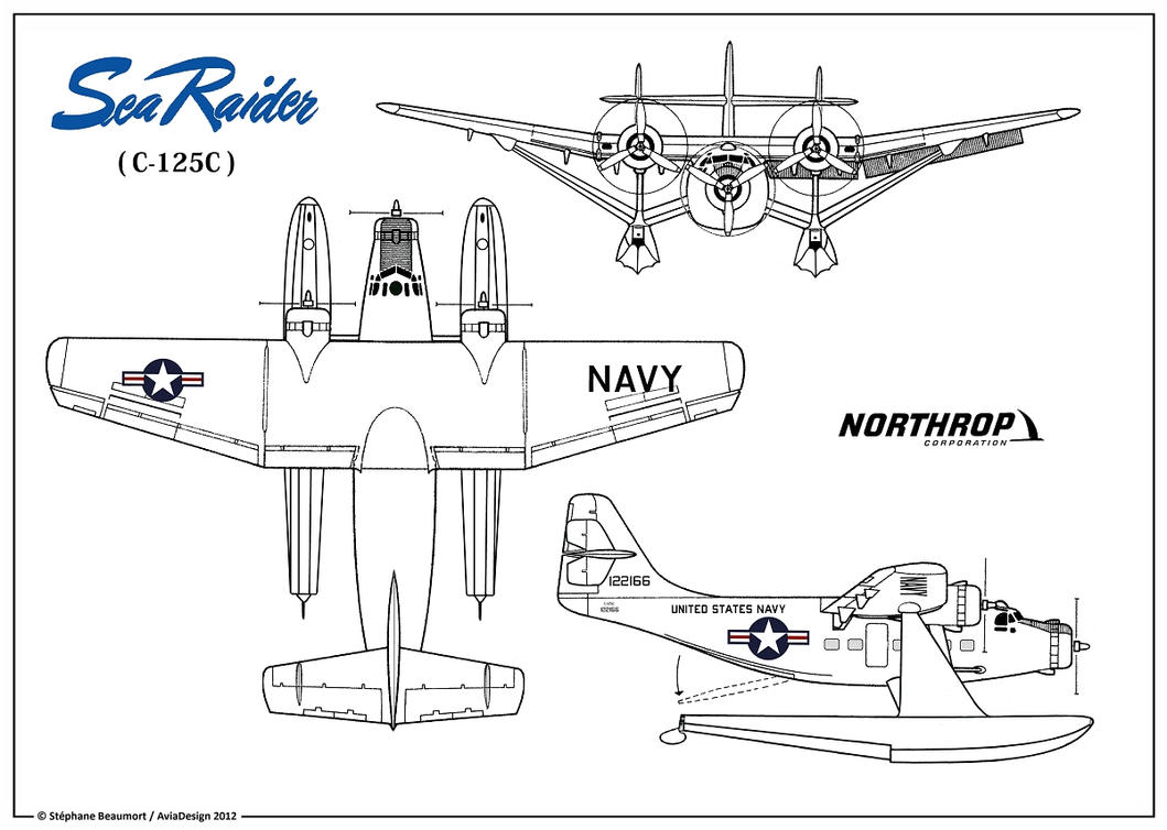 Northrop C-125C ''Sea Raider'' plan by Bispro