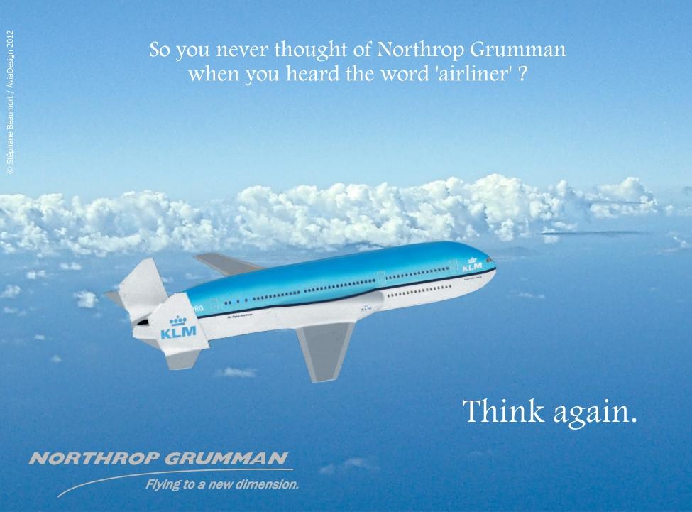 Northrop Grumman ''Peregrine'' twin-deck airliner by Bispro