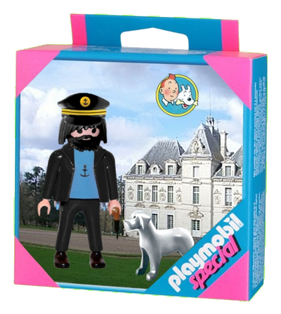 Playmobil Special: Captain Haddock and Snowy by Bispro