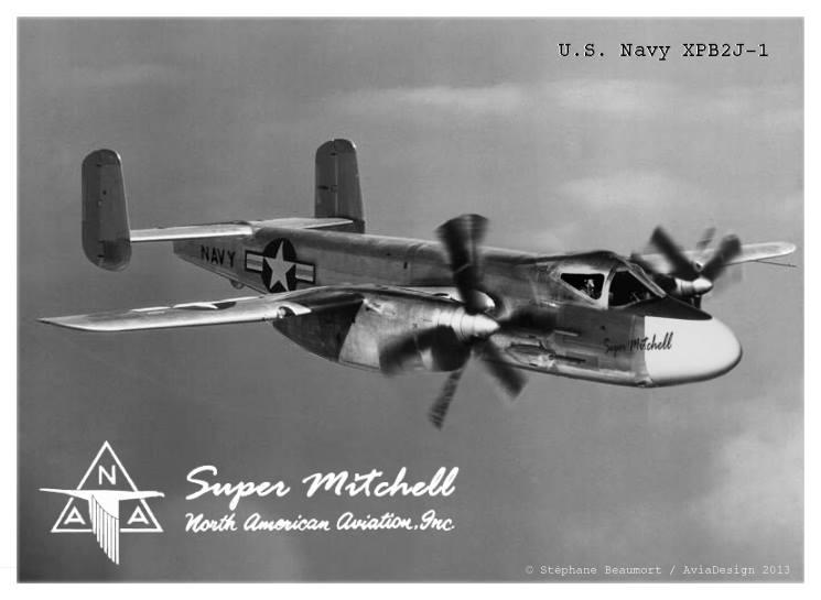 North American XPB2J-1 'Super Mitchell'