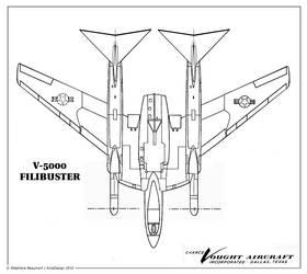 Vought V-5000 ''Filibuster''