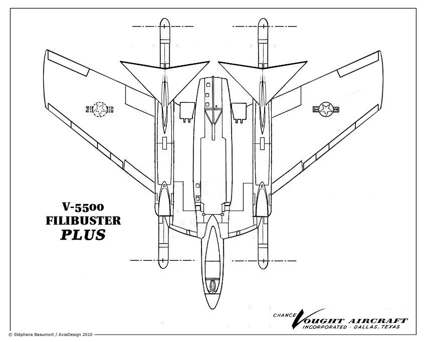 Vought V-5500 ''Filibuster Plus'' by Bispro