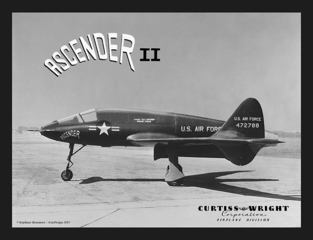 Curtiss CW-36 ''Ascender II'' (XF-55J) by Bispro