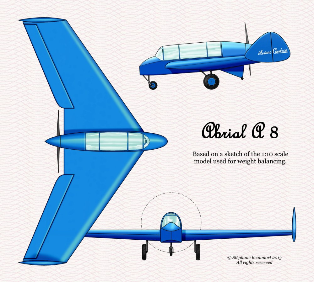 Abrial A.8 = Caudron A.260  (real 1930 project)