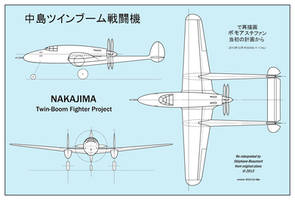 Nakajima twin-boom fighter (real WW2 project)