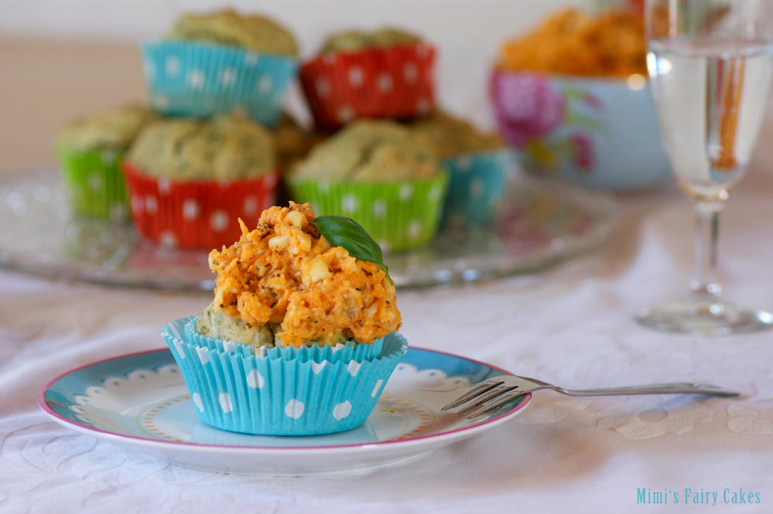 Herbage Fairy Cakes with Carrot-Nut-Topping by Cailleanne